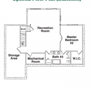 Optional Basement Floor Plan for Blue Ridge Log Home