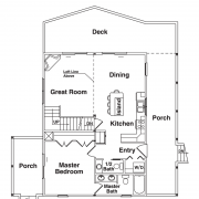 1st Floor Plan for Chalet Mountain Home