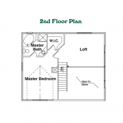 2nd Floor Plan for Cherokee Log Home