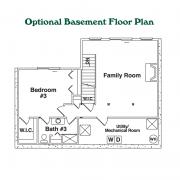 Optional Basement Floor Plan for Grandview Log Home