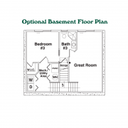 Optional Basement Floor Plan for the Hideout Log Home