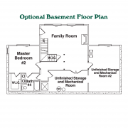 Optional Basement Floor Plan for Mount Mitchell Log Home