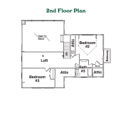 2nd Floor Plan for Ridgeline Log Home