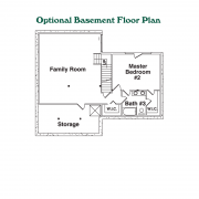 Optional Basement Floor Plan for Ridgeline Log Home