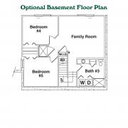 Optional Basement Floor Plan for Rocky Creek Log Home