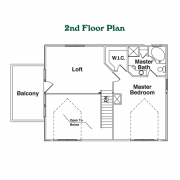 2nd Floor Plan for Victory Trail Custom Home
