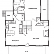 1st Floor Plan of Appalachian Log Cabin