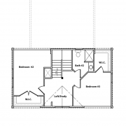 2nd Floor Plan of Appalachian Log Cabin