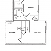 Optional Basement Floor Plan of Appalachian Log Cabin