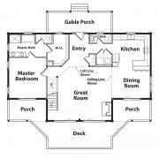 1st Floor Plan for Black Bear Log Home