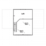 2nd Floor Plan for Black Bear Log Home