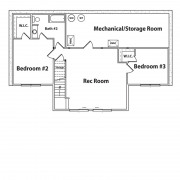 Basement Floor Plan for Black Bear Log Home