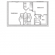 Optional Basement Floor Plan for Cane Creek Log Home