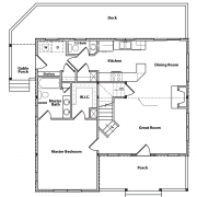 1st Floor Plan for Cottage Model Home
