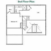 2nd Floor Plan for Cottage Model Home