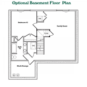 Optional Basement Floor Plan for Cottage Model Home