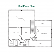 2nd Floor Plan for High Peak Log Home