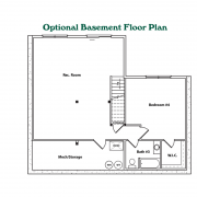 Optional Basement Floor Plan for High Peak Log Home