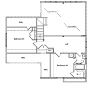 2nd Floor Plan for Lake View Model Home