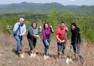 Family Ground Breaking Ceremony